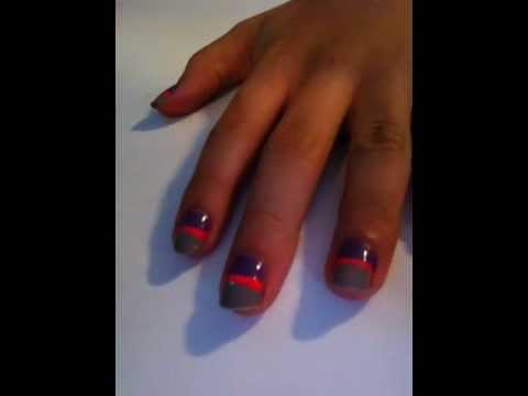 Super stylish nails two color nail art design tutorial super stylish nails two color nail art design tutorial beginners prinsesfo Images