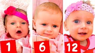 Первые месяцы Маши - Детская песня. Песни для детей от Майи и Маши.