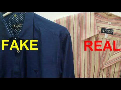 Real Vs Fake Armani Shirt. How To Spot Fake Giorgio Armani Shirts