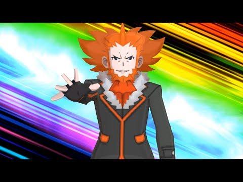 Pokemon Ultra Moon: Team Flare Leader Lysandre Boss Fight (4K)