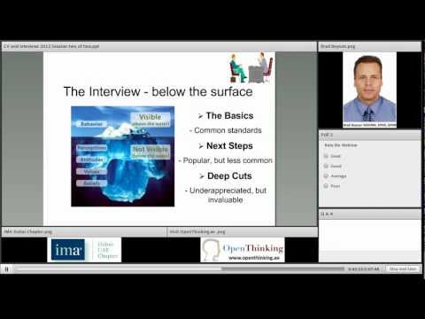 Interviewing Tips & Techniques (IMA Dubai Chapter) - May Webinar