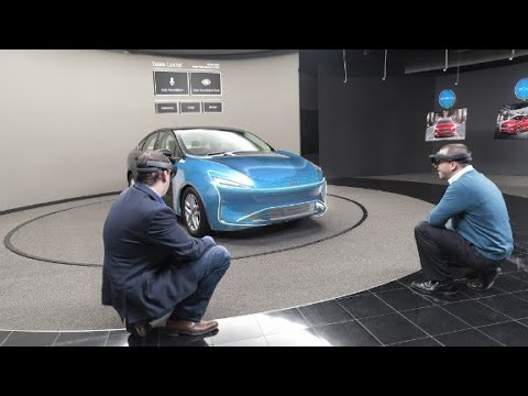 Ford designers test ideas with HoloLens 'mixed reali...