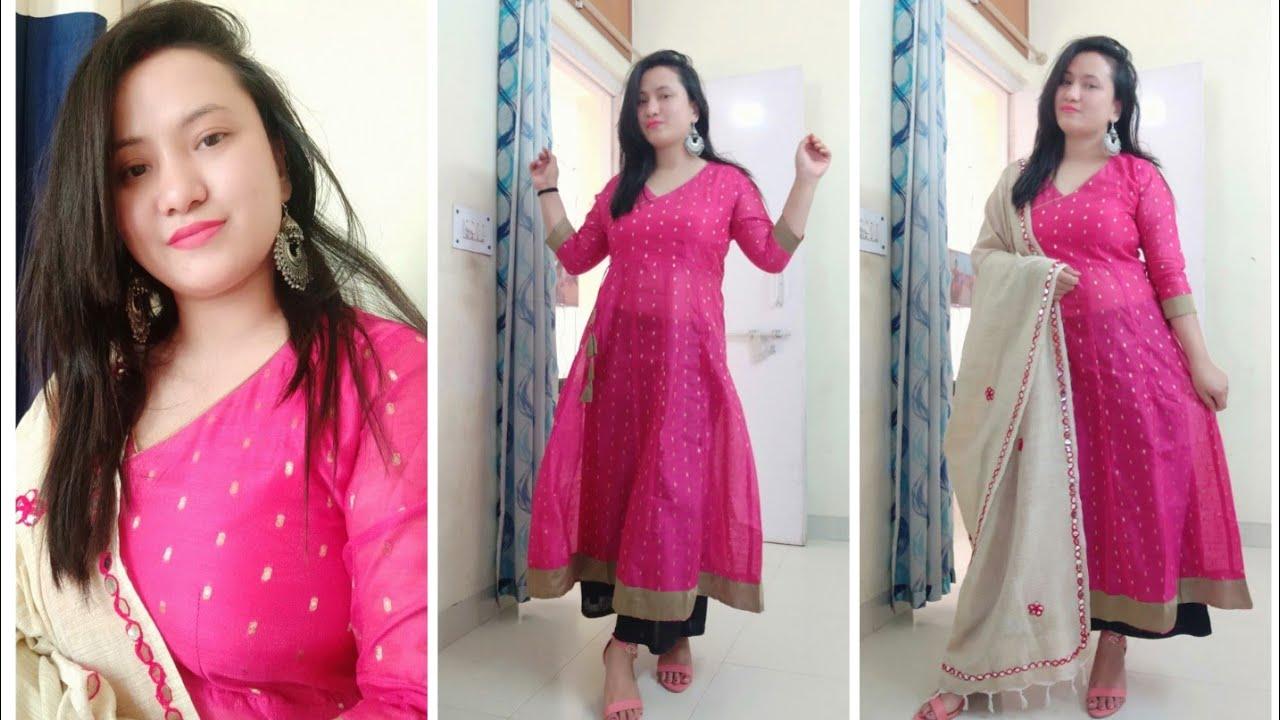 edb0f6ee6f6 Myntra shopping haul myntra EORS sale myntra indian party wear anarkali  kurta under 600. by sunshine ...