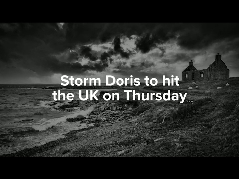 Storm Doris to hit the UK on Thursday with 60-80mph winds