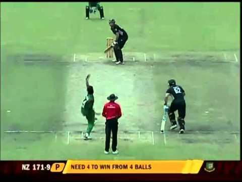 Bangladesh Cricket: BD vs NZ ODI 5, Rubel Hossain Last Ball BanglaWash (Oct 17, 2010)