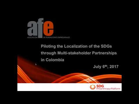 Localization of the SDGs: The Colombian Example