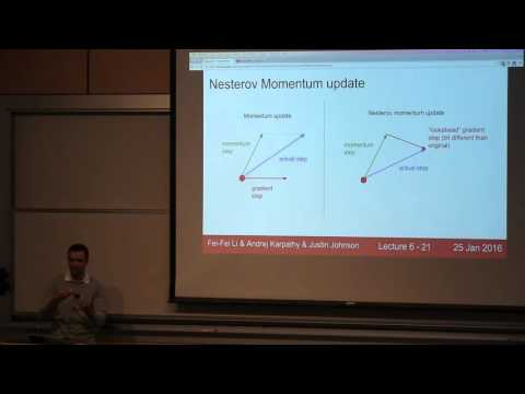CS231n Winter 2016: Lecture 6: Neural Networks Part 3 / Intro to ConvNets