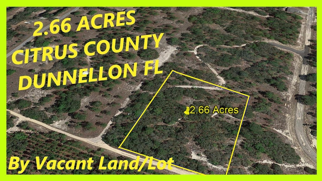 SOLD! Land for sale in Dunnellon FL - 2.66 Acres in Dunnellon, Citrus county, Florida