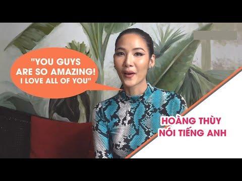 Hoàng Thùy nói tiếng Anh cực trôi chảy trước thềm Miss Universe 2019