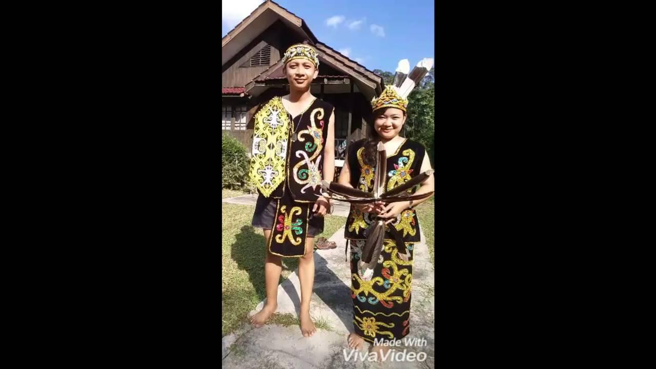 Pakaian Adat Dayak Kalimantan Timur Youtube