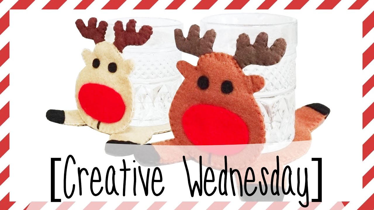 diy reindeer felt coaster free template creative wednesday
