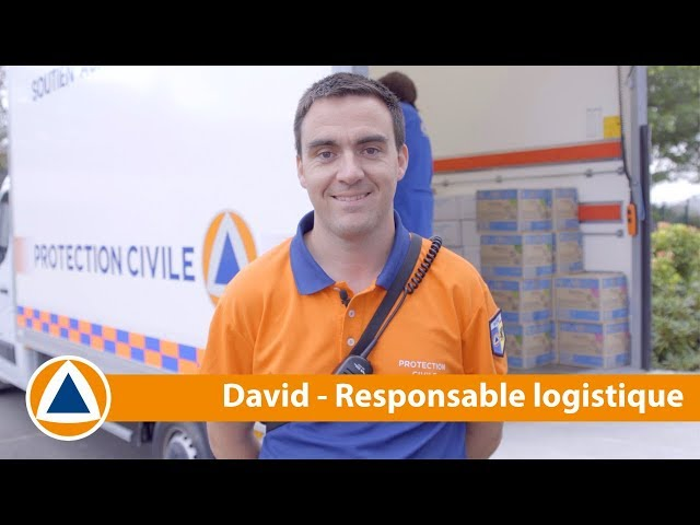 #NosMissions - David est responsable logistique à la Protection Civile