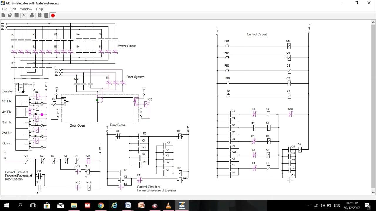 elevator 1 circuit diagram simulator