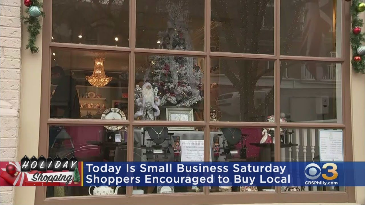 Shoppers Encouraged To Shop Local On Small Business Saturday