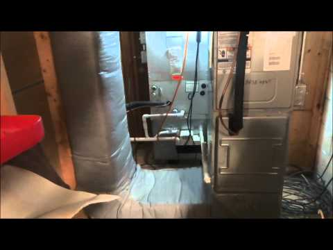 hvac : water around air handler