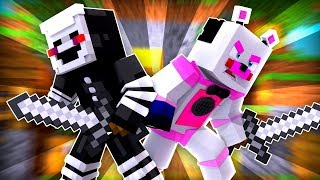 Funtime Freddy Carries Puppet in Bedwars ?! | Minecraft FNAF Roleplay