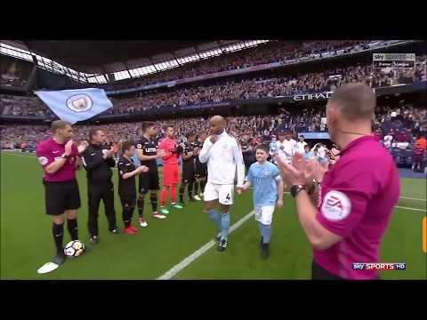 Manchester City Receiving Guard Of Honour Premier League champions 2017/2018