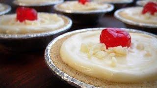 White Chocolate Pudding Tarts