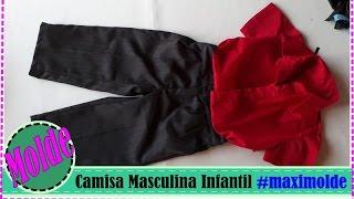 Camisa Masculina Infantil _ Aula de Modelagem_ Dicas de Corte e Costura