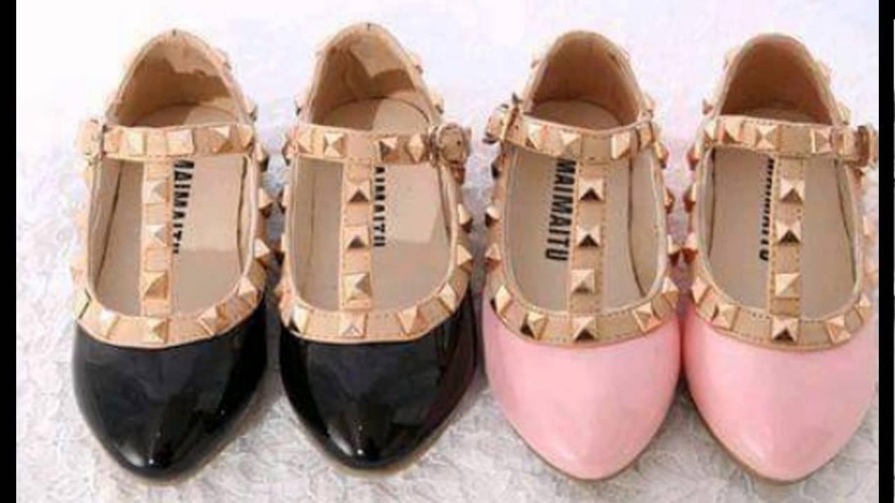 3fdc5fddc Hermosas Sandalias Y Zapatillas para Niñas - YouTube