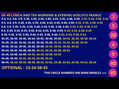 PREDICTED UK49 AND GOS LOTTO NUMBERS WIN LOTTERY FRANCE LOTTERY PREDICTION WIN LOTTO 6-49