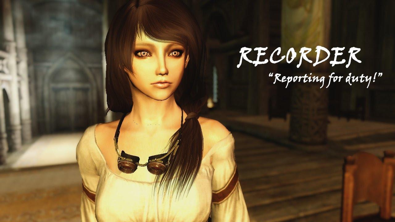 Skyrim SE: Mod showcase - The recorder (voiced follower!)