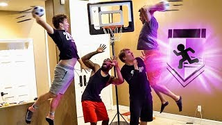 CRAZY Posterizer SLAM DUNK MAYHEM Indoors! 2vs2 Mini Basketball Challenge w/ 2Hype!