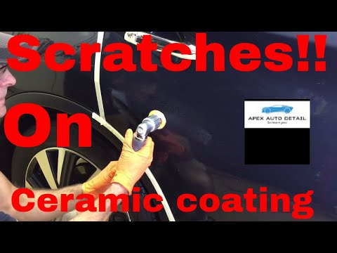 How to remove scratches from vehicles with CERAMIC COATINGS!!!