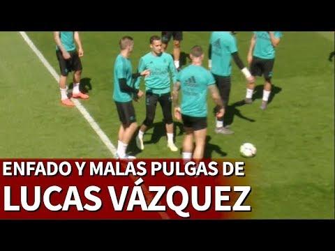 A Lucas Vázquez se le fue la mano: enfado y pelotazo de rabia a Kroos | Diario AS