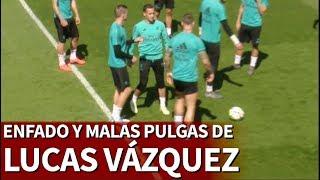 A Lucas Vázquez se le fue la mano: enfado y pelotazo de rabia a Kroos   Diario AS