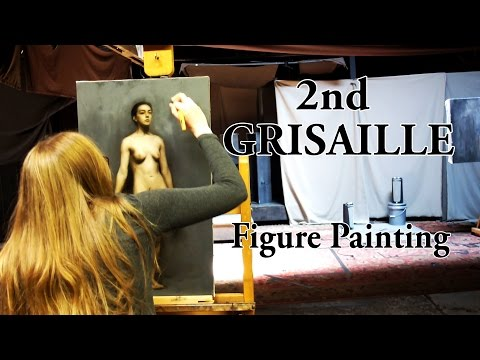 CATHERINE | Grisaille Figure Painting