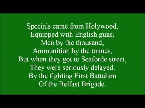 Belfast Brigade with lyrics