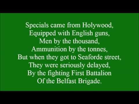 Belfast Brigade with lyrics