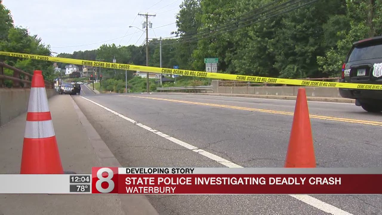 State Police on the scene of a double fatal crash in Waterbury