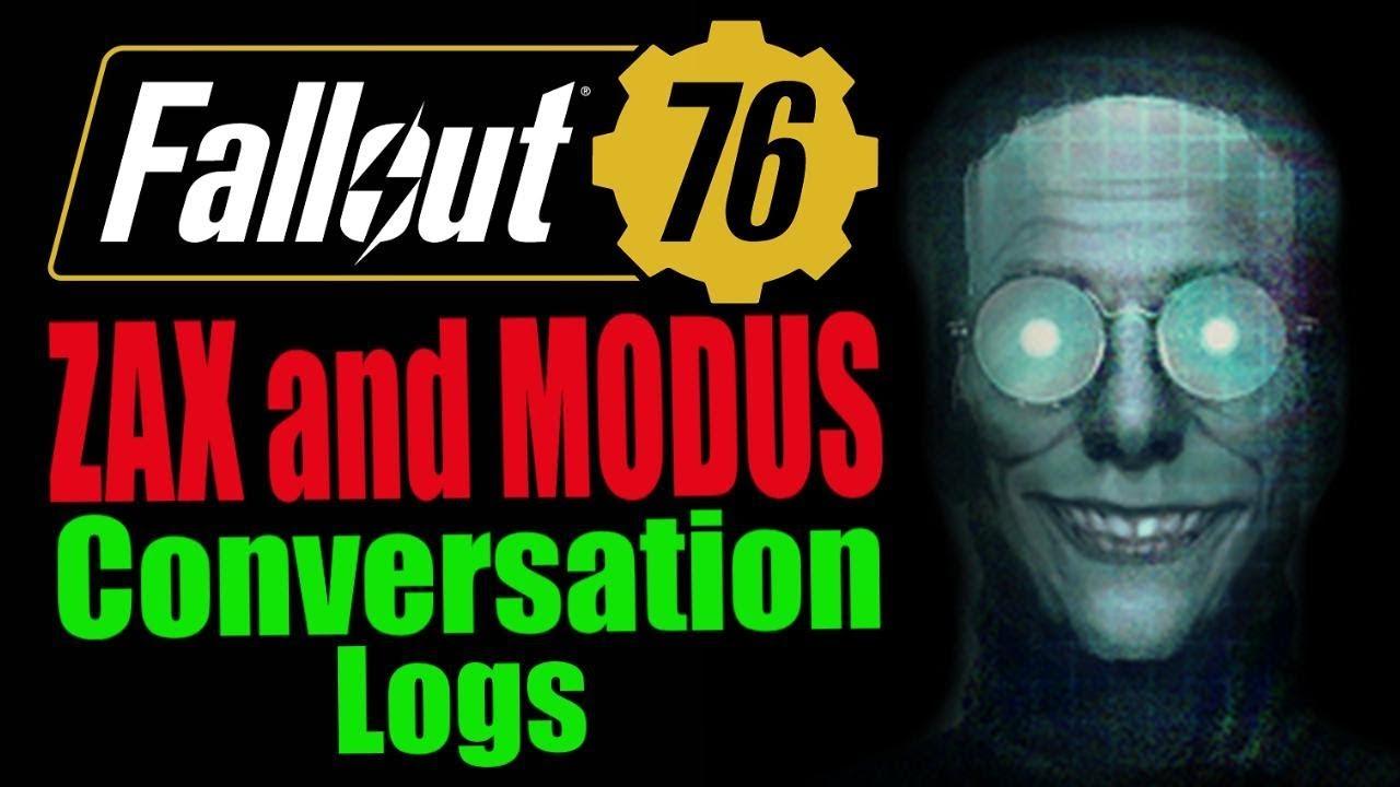 Fallout 76 Modus and Zax Conversation | Fallout 76 Wiki