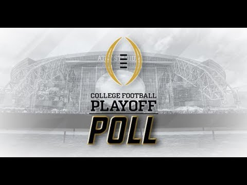 * LIVE  *  COLLEGE FOOTBALL PLAYOFF POLL #3 WEEK 12 2018