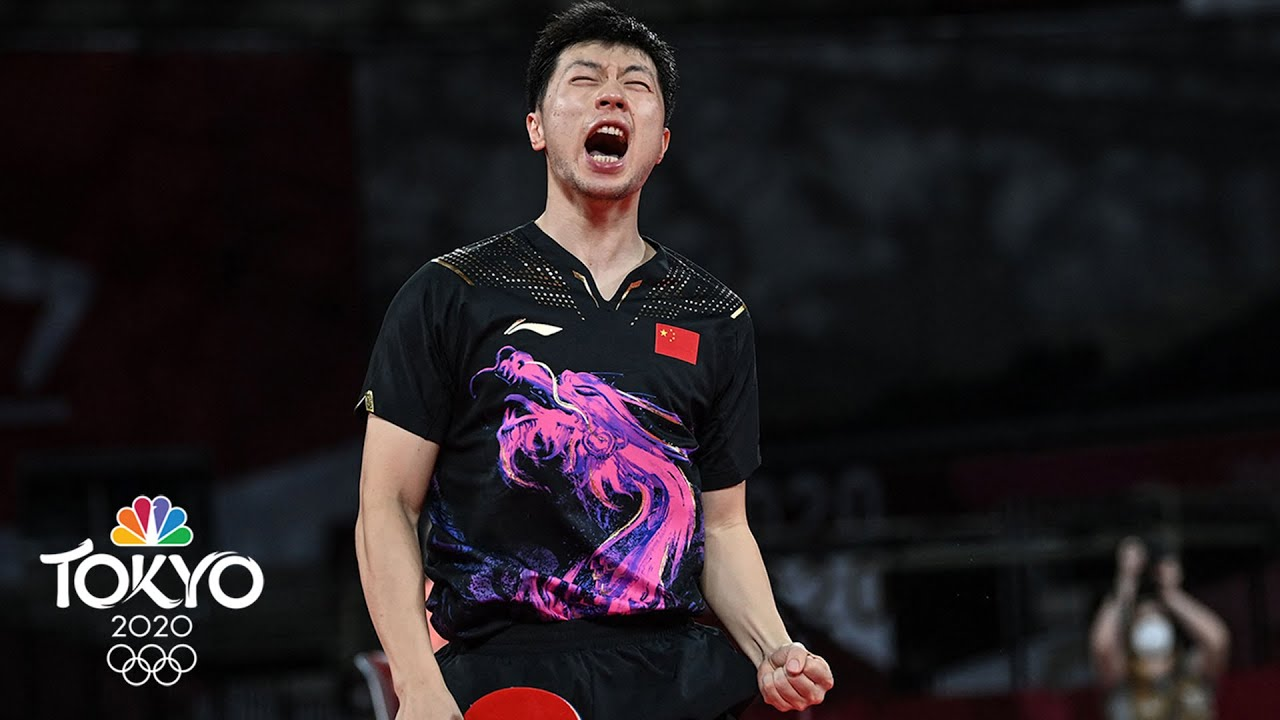 Download World's best men's table tennis players stage EPIC gold medal match   Tokyo Olympics   NBC Sports