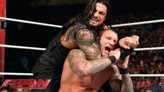 Raw - Randy Orton vs. Roman Reigns - WWE App Vote Match: Raw, June 10, 2013