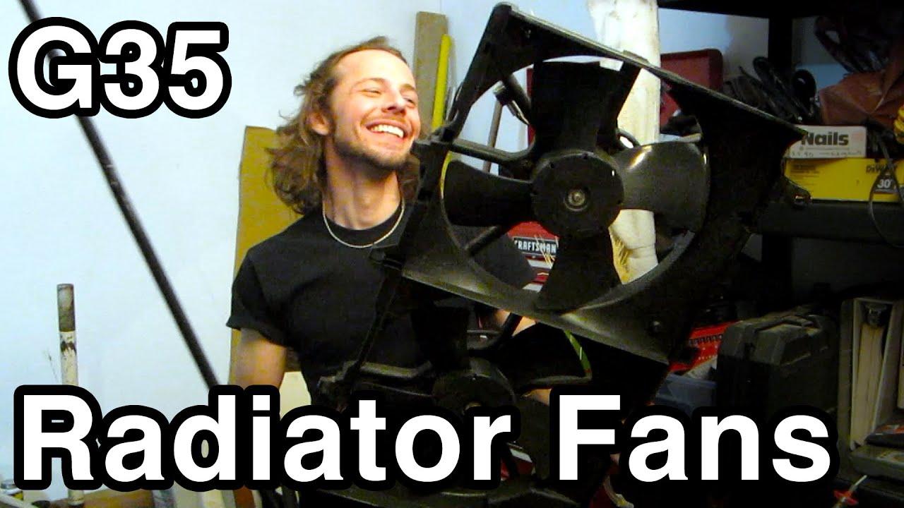 medium resolution of radiator fan replacement infiniti g35 nissan 350z