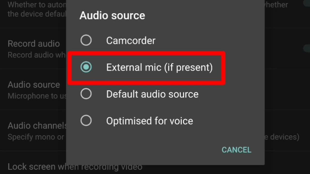 How To Change Phone Camera Settings For External Microphone Works For Any Phone Youtube