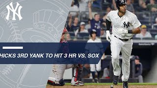 Hicks becomes 3rd Yankee to hit 3 homers vs. Red Sox