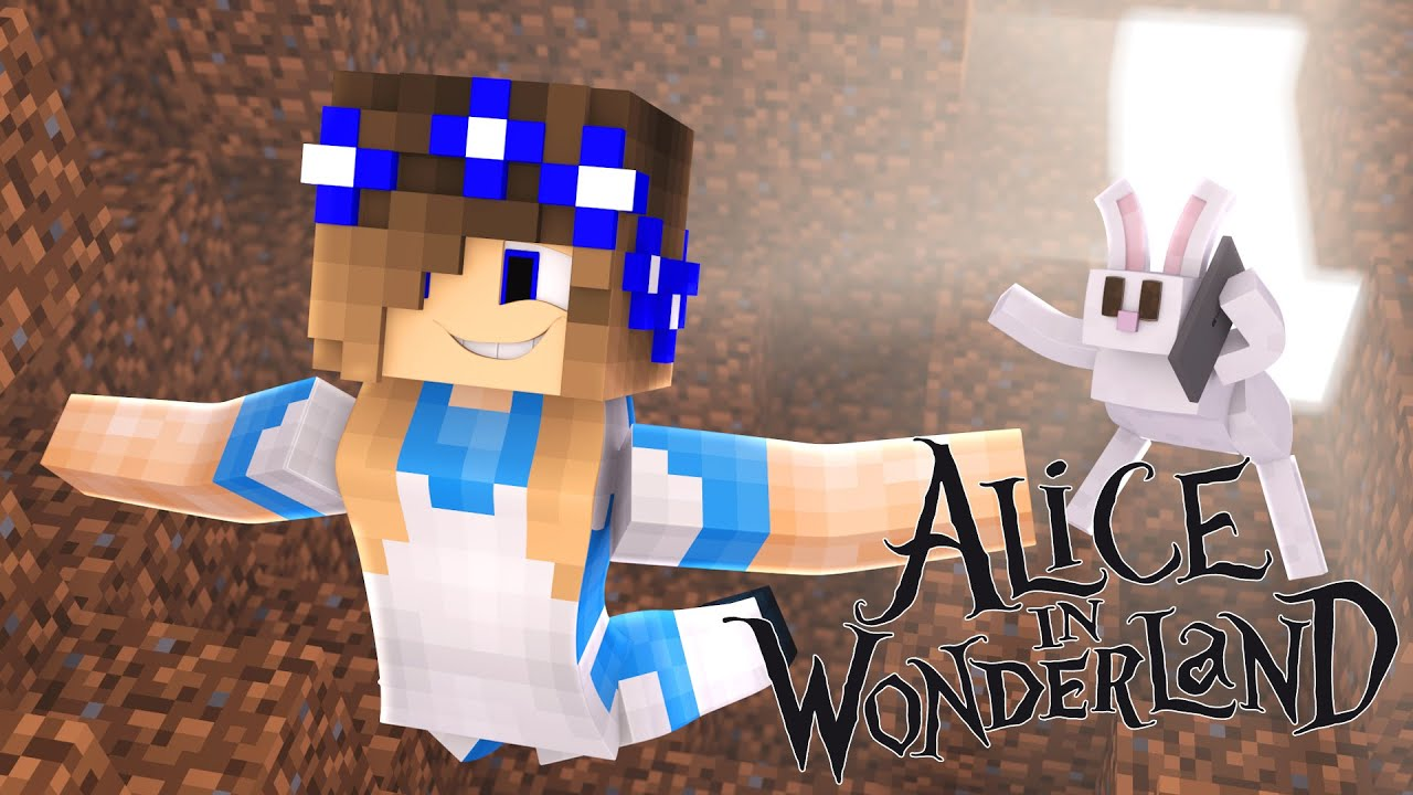 Minecraftalice In Wonderlandlittle Carly Falls Down The Rabbit Hole!!   Youtube