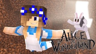Minecraft-Alice in Wonderland-LITTLE CARLY FALLS DOWN THE RABBIT HOLE!!