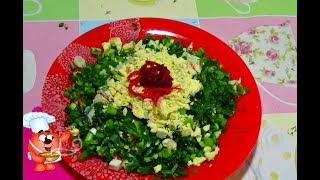 салат из крабовых палочек, огурцом, морковью-диетический