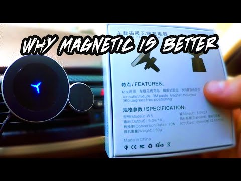 FUNXIM W5 Magnetic Wireless Car Charger, Air Vent - UNBOXING REVIEW (Mira Schwartzburg EP Trailer)