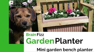 Make A Simple Mini Garden Bench Planter