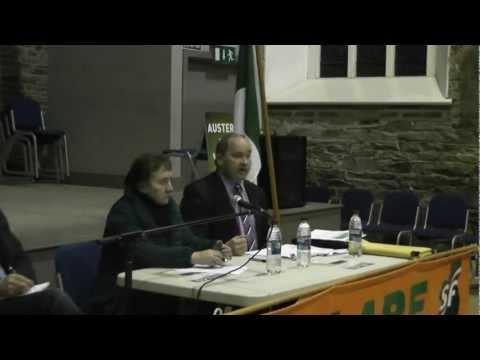 Senator Trevor O'Clochartaigh in Kilrush, Co. Clare.