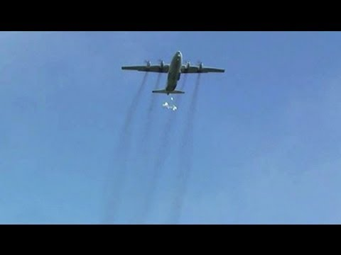 Food Arrives From Above In Central African Republic