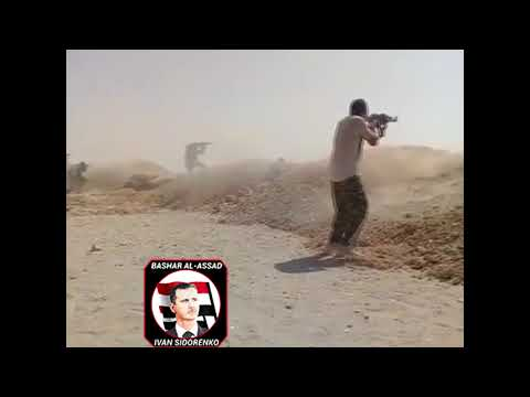 Syria Brigades of the Den Military Intelligence Branch Fighting ISIS @ a frontline in Syrian Desert