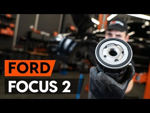 Как заменить моторное масло и масляный фильтр на FORD FOCUS 2 (DA) [ВИДЕОУРОК AUTODOC]